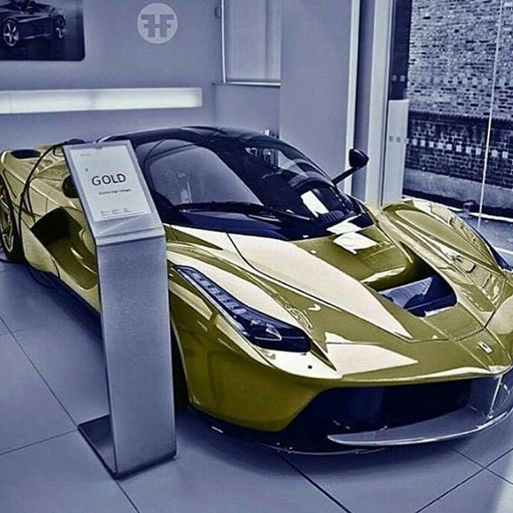 Instagram Photo By The Luxurious Man Apr 27 2016 At 6 37pm Utc Gold Car Ferrari World Luxury