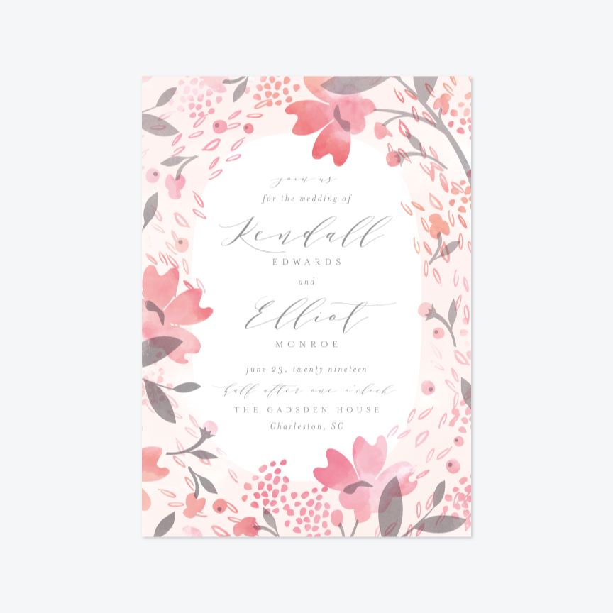 Summer Garden Wedding Invitation Suite Invitation by Kristie