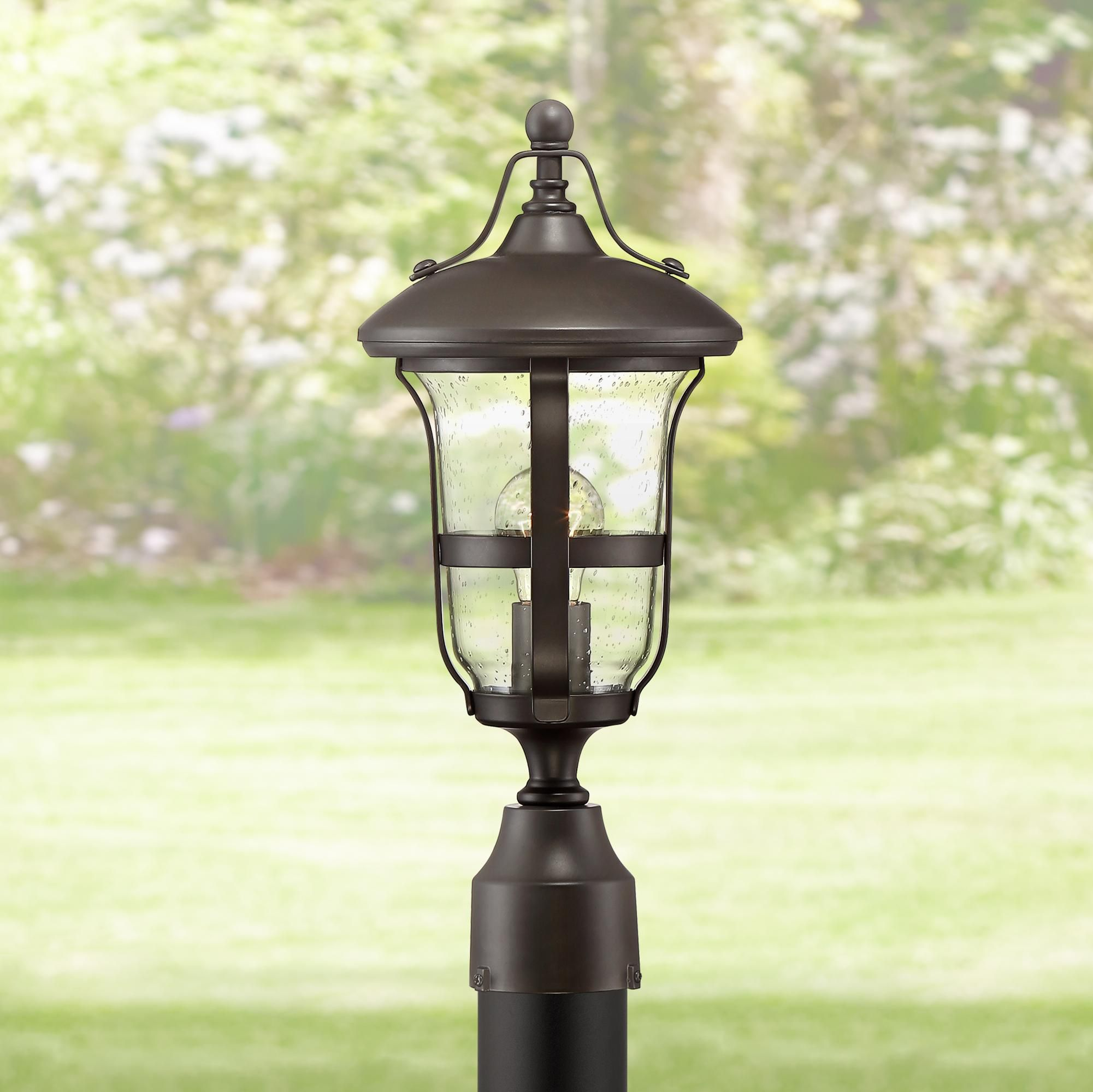 Outdoor Lighting Birmingham 17 1 4 High Bronze Outdoor Post Light Outdoor Post Lights Post Lights Solar Post Lights