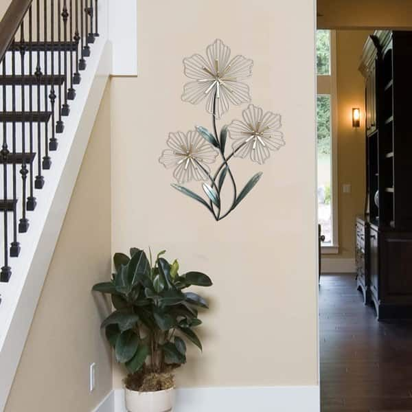 Stratton home decor tri flower metal wall also best new house images in diy ideas for future rh pinterest