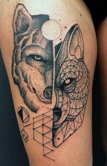 Fascinantes Diseños De Tatuajes De Animales Geometricos Tattoos
