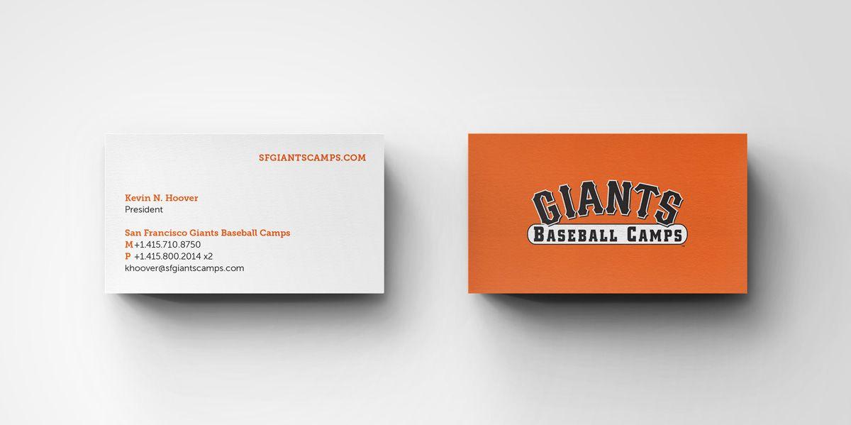 San Francisco Giants Business Card Example Jmc 3433 Inspiration
