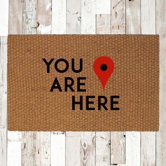 map on door map marker you are here door mat tell your guests that they have