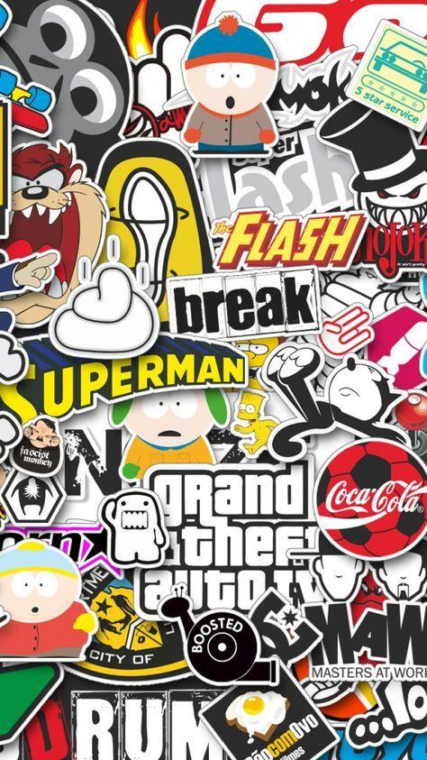 Awesome Fond D Ecran Hd Iphone Swag 663 Sticker Bomb Wallpaper Graffiti Wallpaper Iphone Sticker Bomb