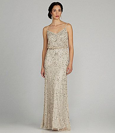1daf66a8740 Adrianna Papell SpaghettiStrap Beaded Blouson Gown  Dillards  98 size 10  and up available LETICIA