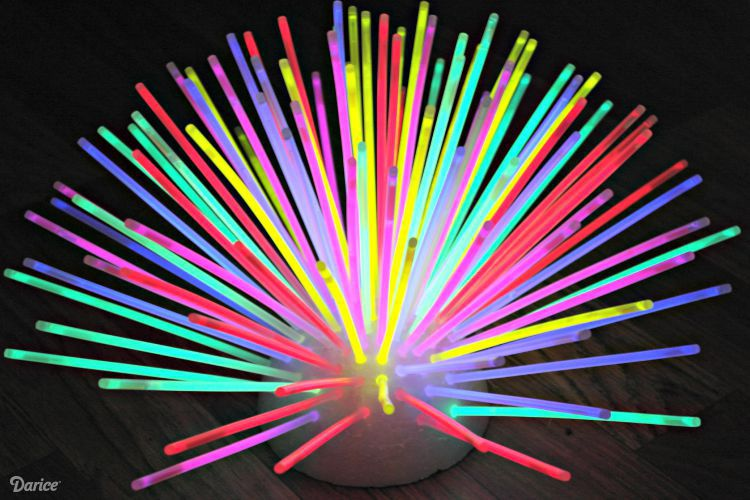 Diy Glow Stick Centerpiece Fun Idea Darice Glow Birthday Party Glow Stick Party Neon Birthday Party