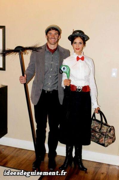 mary poppins et le ramoneur idees originales deguisement et costume en duo film disney ah ha. Black Bedroom Furniture Sets. Home Design Ideas