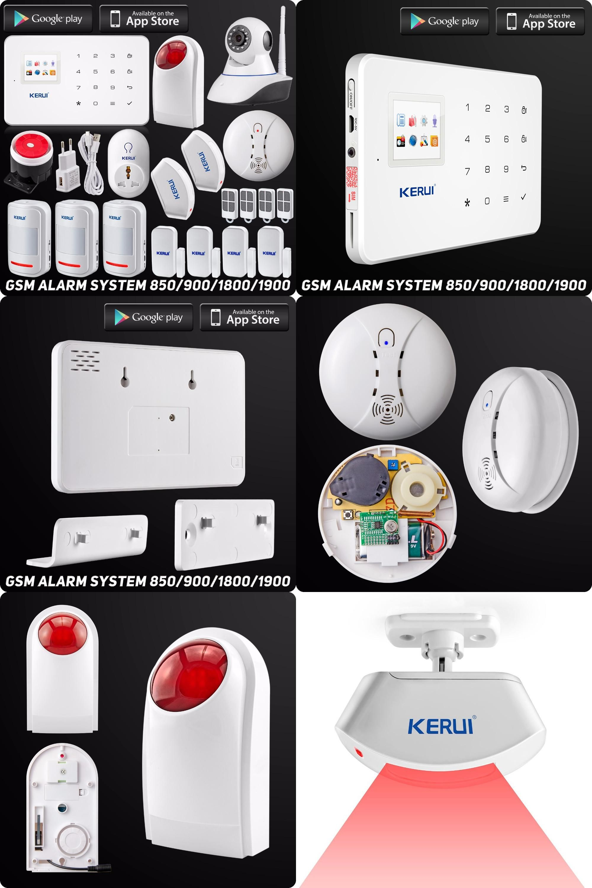 Visit to Buy] Kerui Wireless Wired GSM Home Security Alarm System l ...