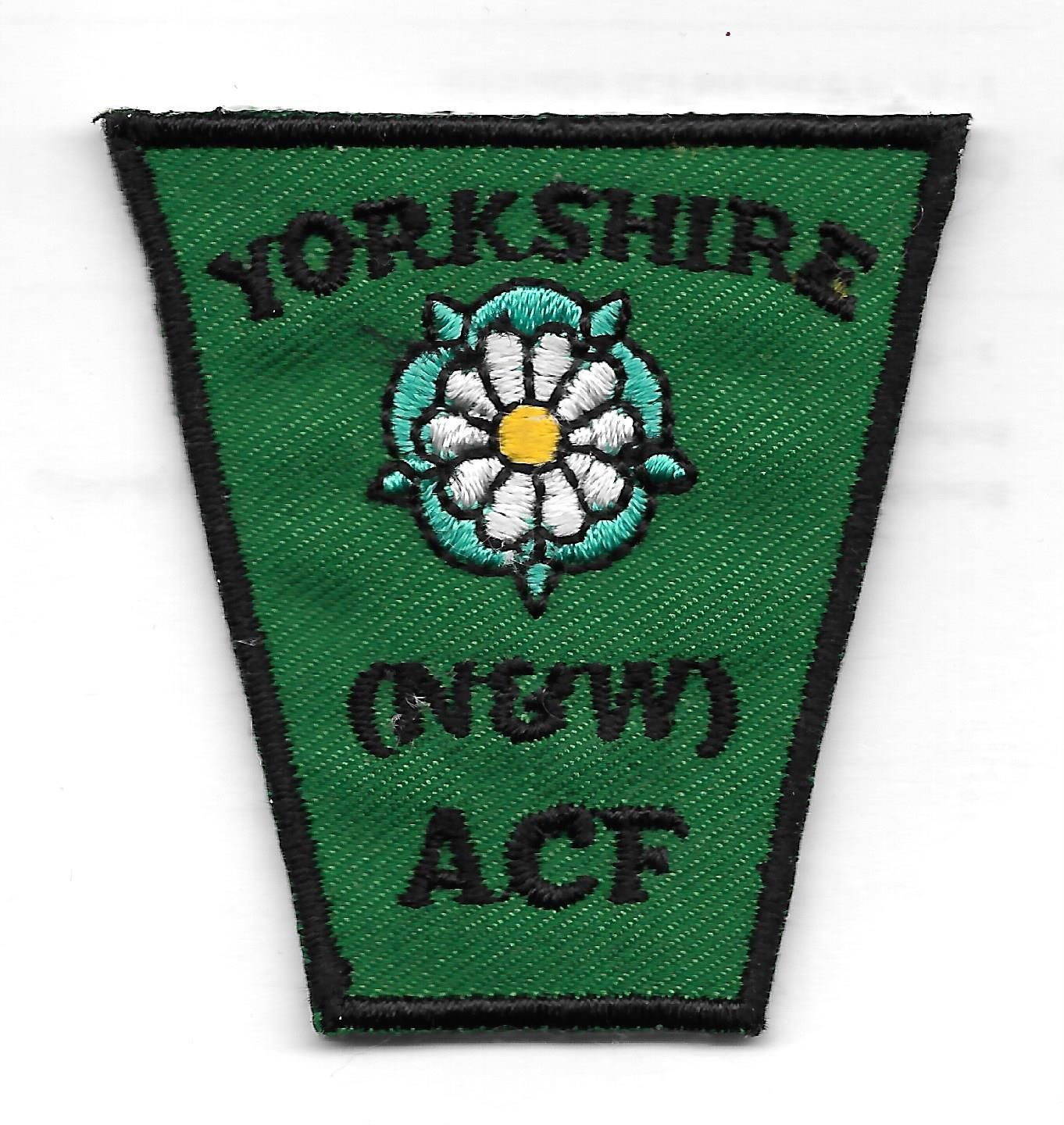 ARMY CADET FORCE YORKSHIRE ( N & W ) ACF COUNTY FORMATION FLASH
