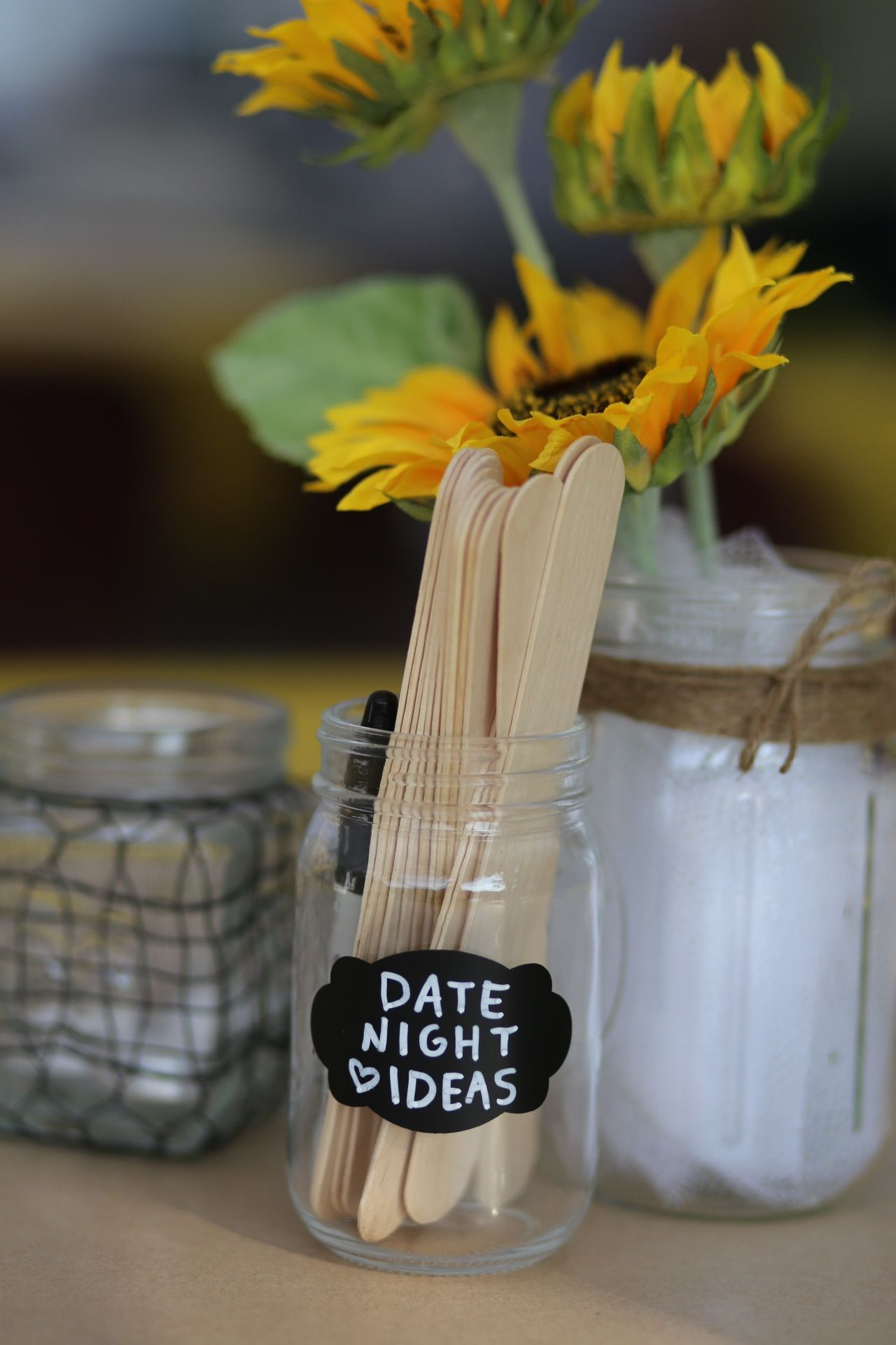 I Do Bbq Bbq Themed Couples Shower Have Your Guests Write Date Night Ideas On Popsicle Sticks Centerpiece Ide I Do Bbq Couple Shower Minute To Win It Games
