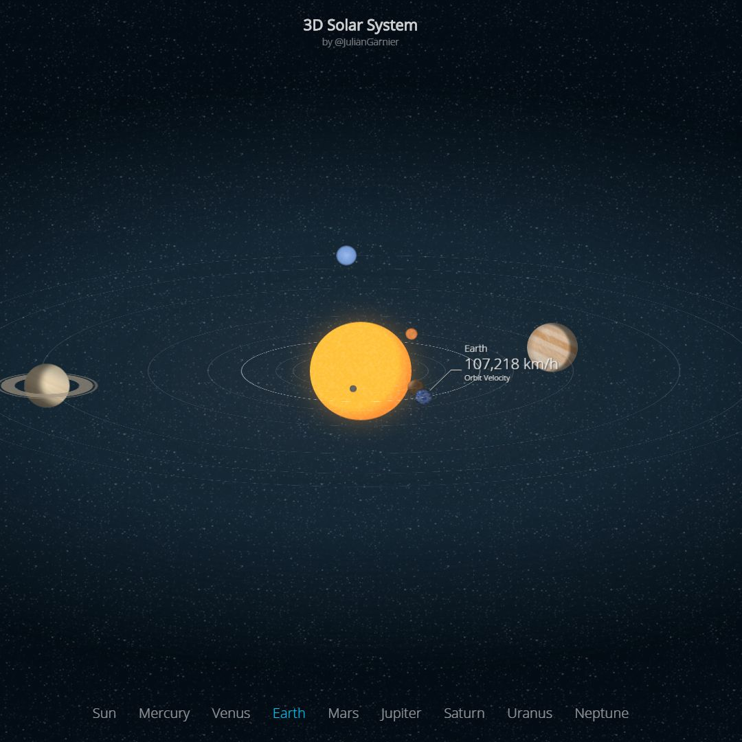 3D Solar System Wallpaper Engine
