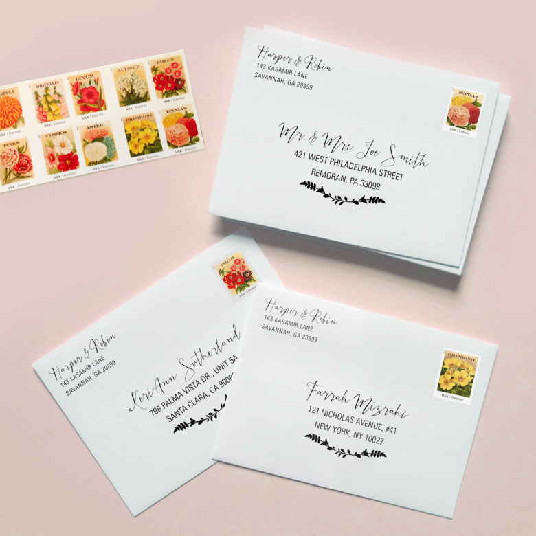 Addressed Wedding Invitation From Printable Press