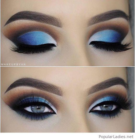 Blaue Augen Make-up für blaue Augen #Augen #Blau #Blau #Auge #Für #Makeup –  B… – Maquillaje