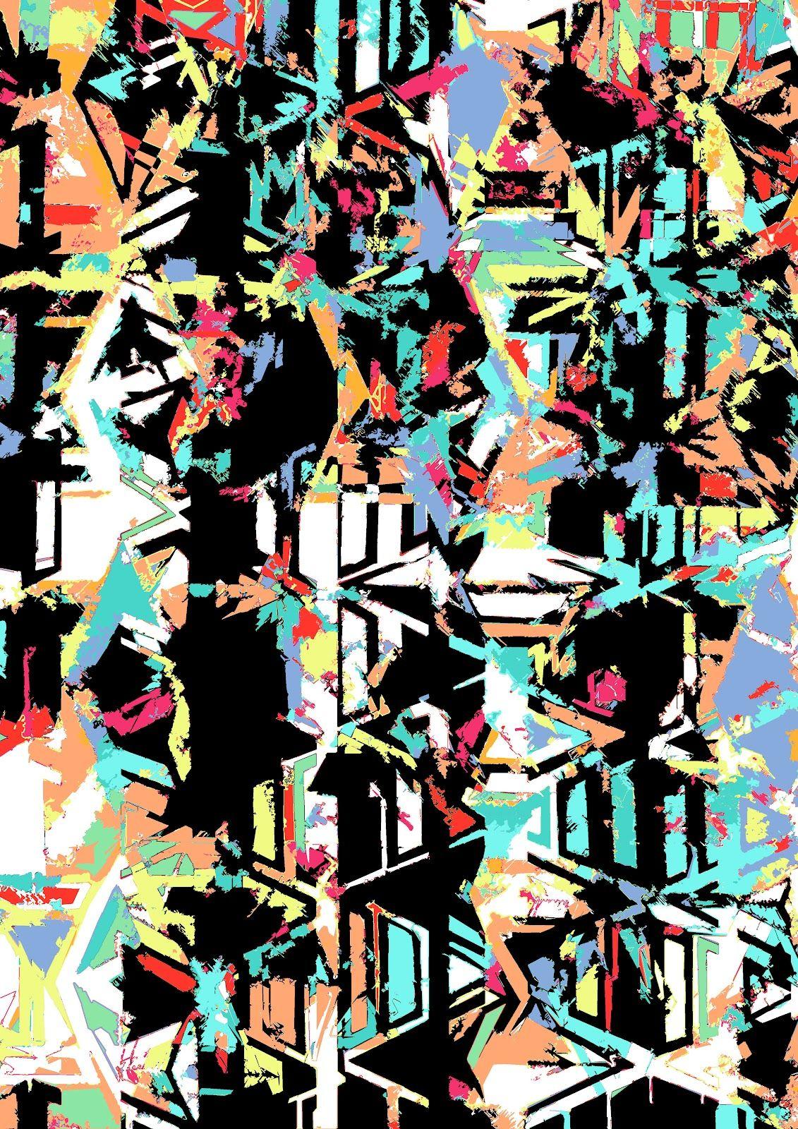 Abstract Aztec Textile Print
