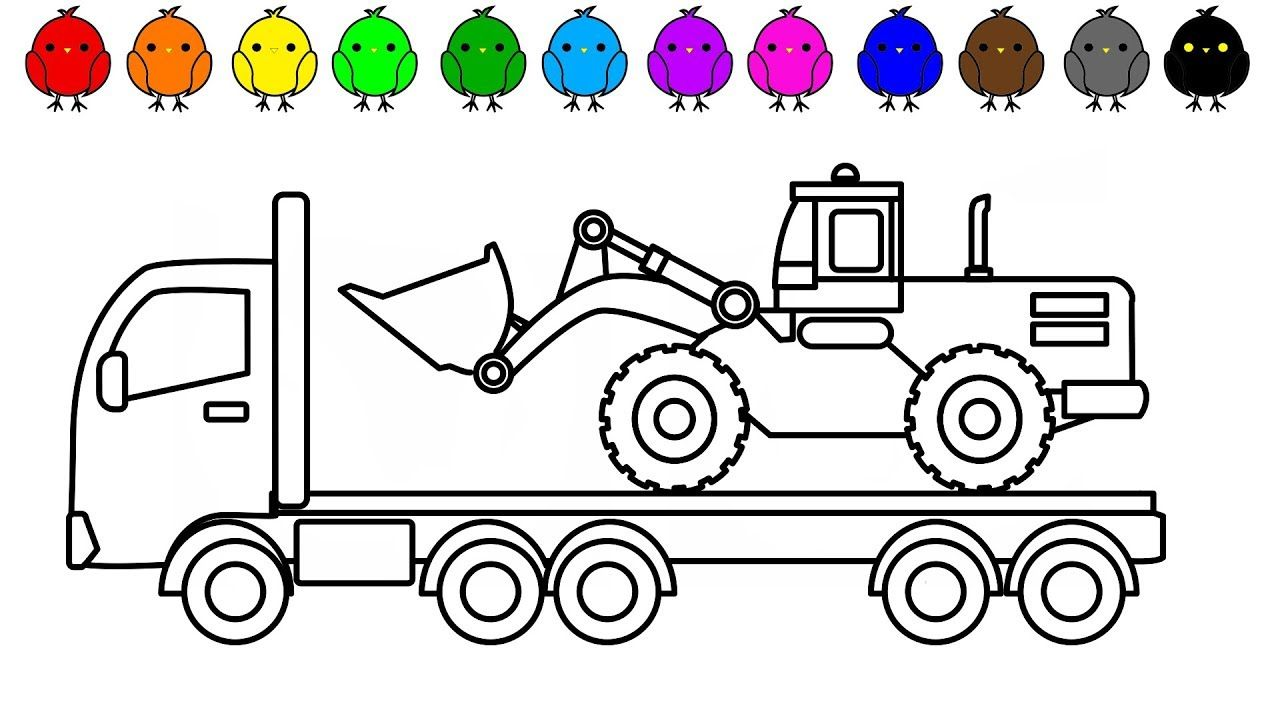 Excavator Truck Coloring Book Coloring Pages For Kids Coloring