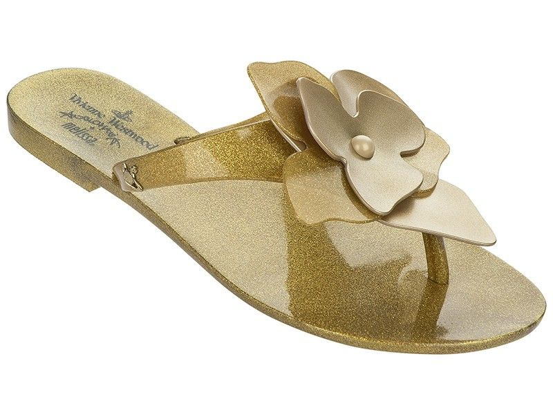 d72bc8fb476a3 Vivienne Westwood + Melissa Color (Gold)  Melissa  flipflops  fashion   sandals