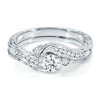 Handel TW Diamond Engagement Ring Set In Gold   Handel Collection   Helzberg  Diamond Symphonies   Collections   Helzberg Diamonds