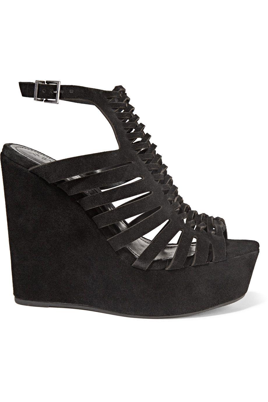 599d28ad5ac SCHUTZ Rachelle braided suede wedge sandals.  schutz  shoes  sandals ...