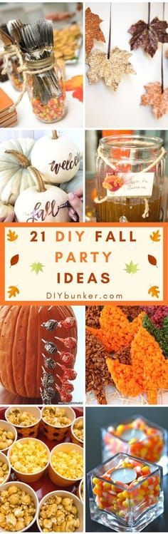 Charming These 21 DIY Fall Party Ideas Are INCREDIBLE! Perfect For Thanksgiving,  Halloween Or Birthdays. I Love How There Are Centerpieces, Decor And Snack  Options!