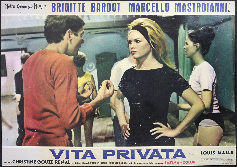 CINEMA-fotobusta VITA PRIVATA b. bardot, m. mastroianni | Cinema