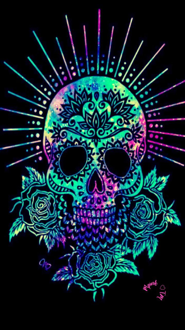 Download Flower Skull Wallpaper by mpink27 - 14 - Free on ...