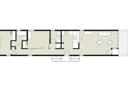 schmales haus im shotgun stil planmaterial preisg nstiges holzhaus auf schmaler fl che mein. Black Bedroom Furniture Sets. Home Design Ideas