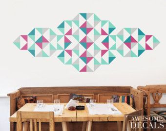 Free Shipping Geometric Decal Wall Art Ornament Wall Decal - Vinyl wall decals abstract