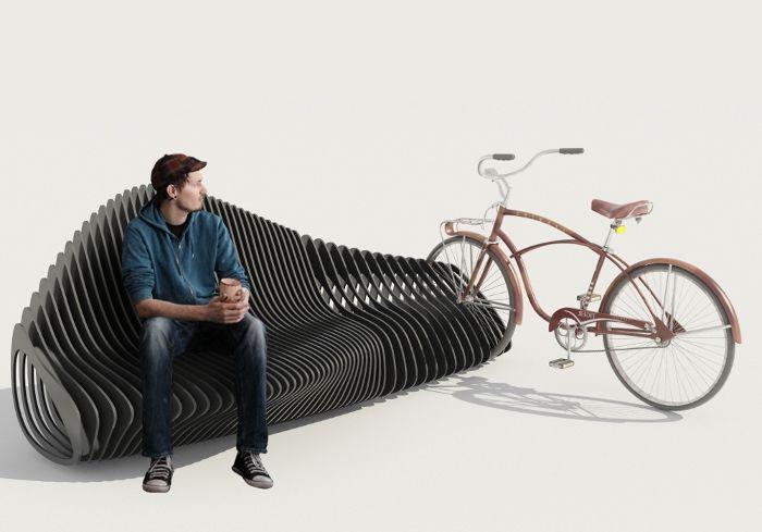 parametric bike stand le banc v lo bike station pinterest bancs urbain et mobilier. Black Bedroom Furniture Sets. Home Design Ideas