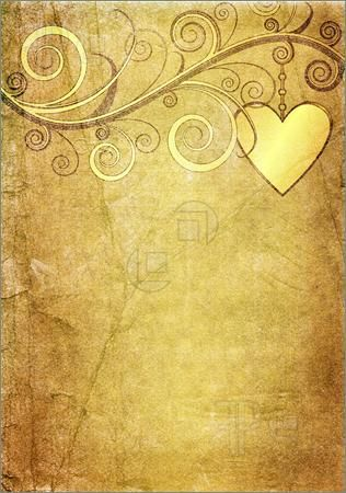 Texture Old Yellow Brown Paper With Vintage Floral Ornament And Heart Book Of Shadows Vintage Paper Paper Background