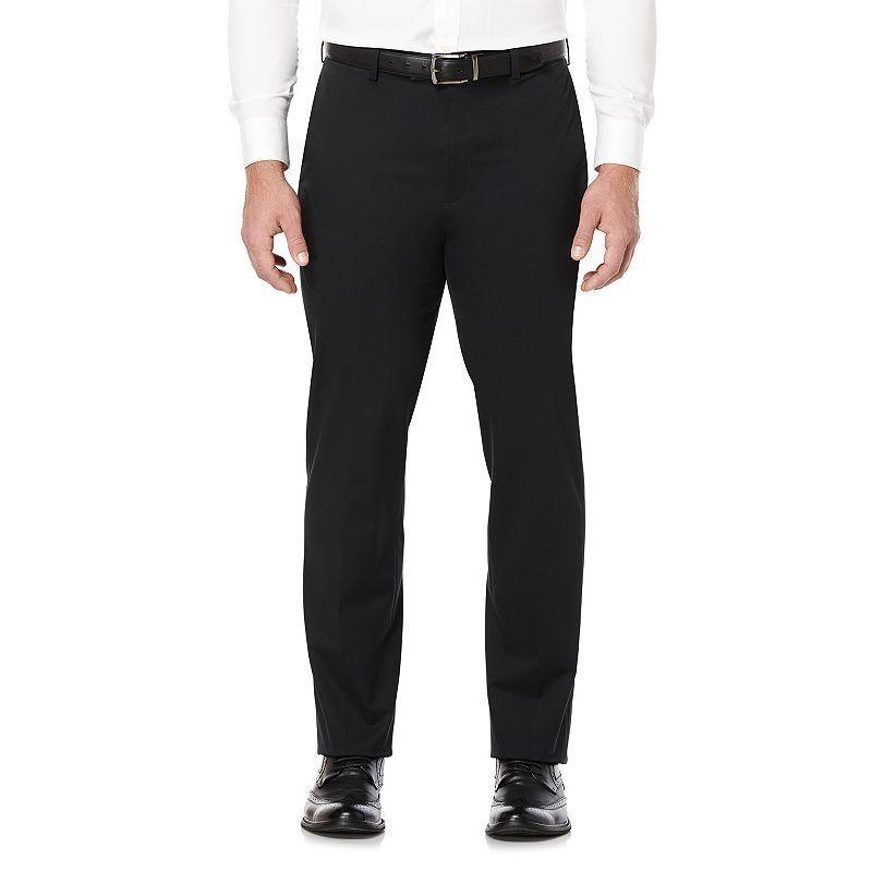 Men's Savane Executive Khaki Straight-Fit Performance Pants, Size: 36X29, Dark Grey