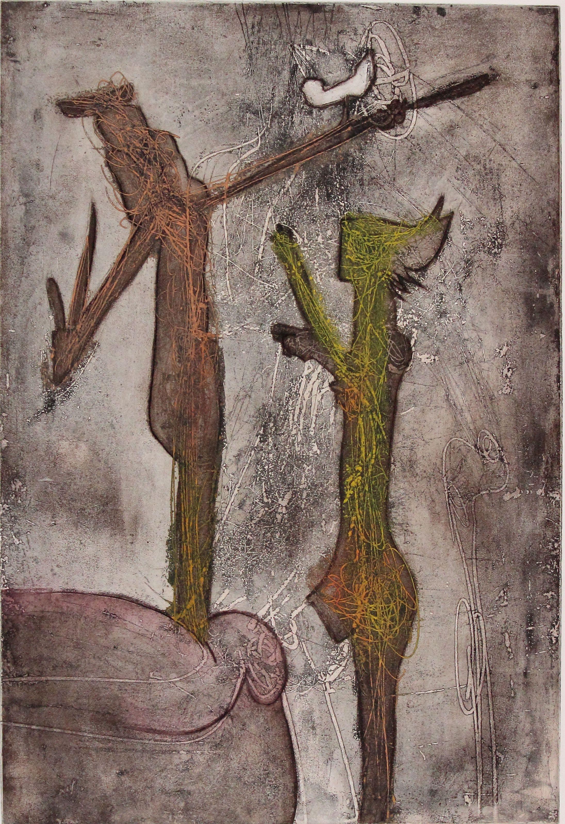 Roberto Sebastian Matta, Personnage I, 1966, acquaforte acquatinta, 75 x 55,5 cm, firmata, E.A.