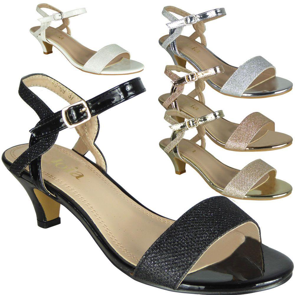 Womens Peeptoe Sandals Heels Ladies Wedding Bridesmaid Bridal Party Shoes Size Kitten Heels From Ebay Uk Kittenh Bridal Party Shoes Peep Toe Sandals Heels