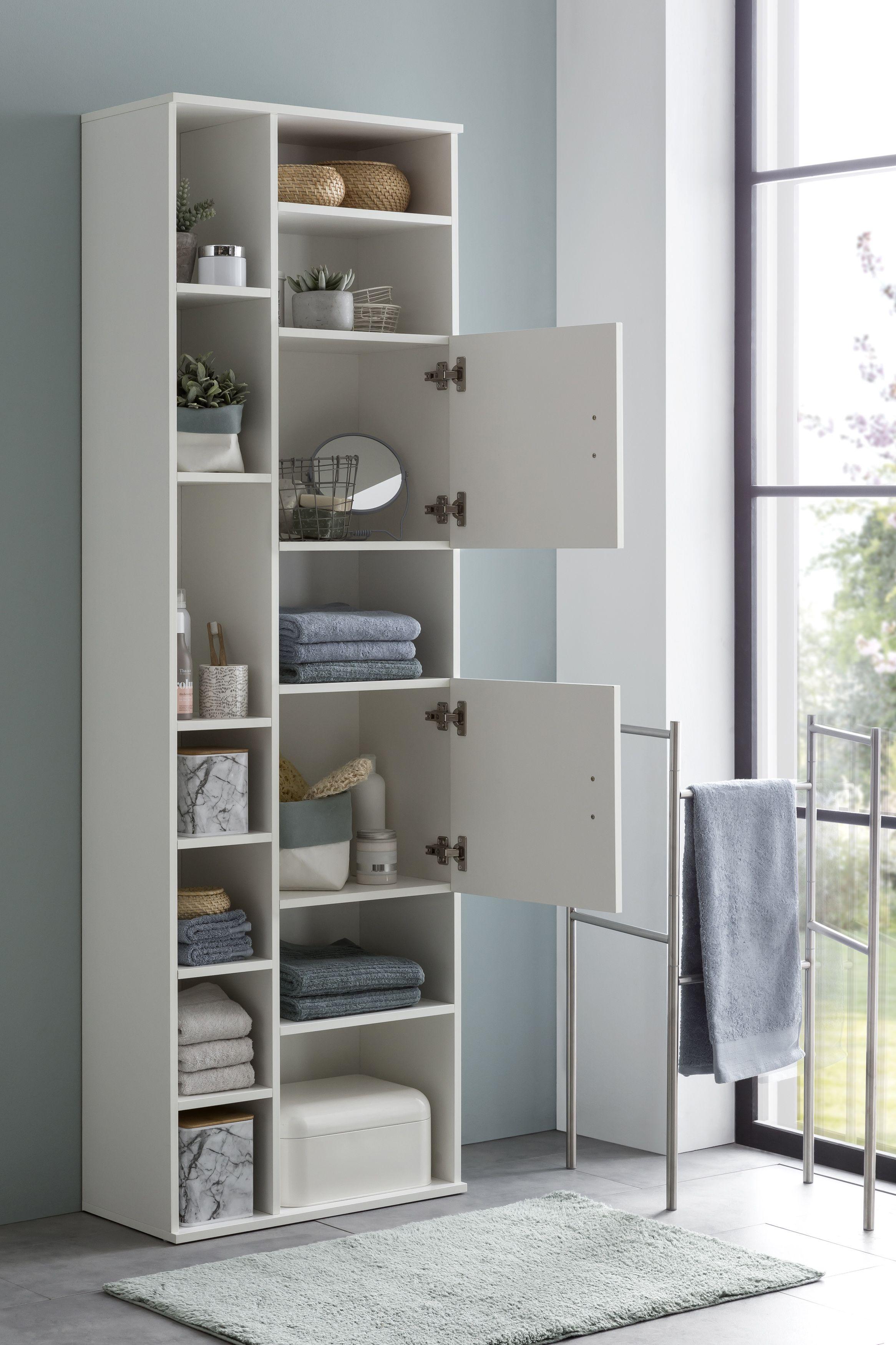 Wohnling Badschrank Weiss Wl5 878 Aus Spanplatte Bathroom Cabinet Badezimmer Schrank Badezimmer Mobel Weiss Schrank