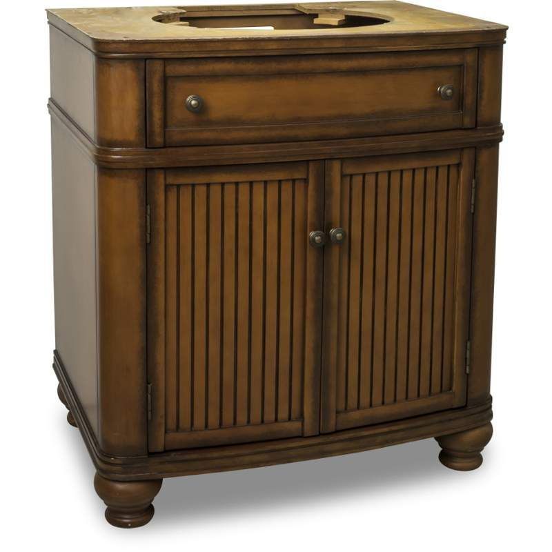 Elements VAN029 NT Compton Collection 30 Inch Wide Bathroom Vanity Cabinet  Only Painted Walnut Fixture