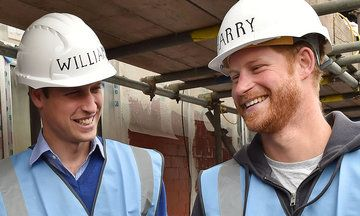 William And Harry Roll Up Sleeves, Build Homes For Veterans In Need.Currently, an estimated 9,000 vets in England are sleeping on the streets.