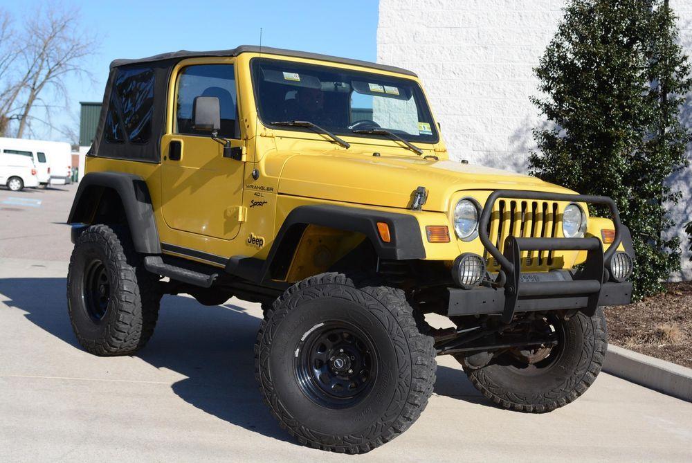 Ebay 2000 Wrangler Sport Jeep Wrangler Yellow With 87 100 Miles For Sale 2000 Jeep Wrangler Jeep Wrangler Sport Wrangler Sport