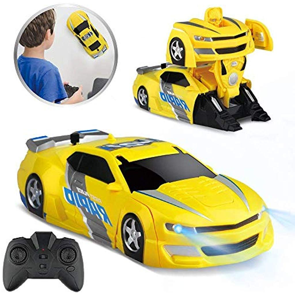 Baztoy Ferngesteuertes Auto Kinder Spielzeug Transform Roboter Rc Car Junge Madchen Doppelmodi 360 Rotation Auto Spiele Ferngesteuertes Auto Kinder Spielzeug