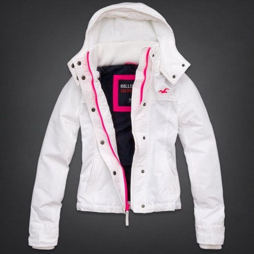 Hollister Winter Pink White Jacket And qSzVGpMLU