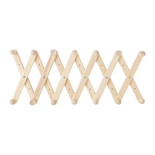 RYSSBY 2014 Wandgarderobe IKEA Verstellbare Breite; einfach dem Bedarf anpassen.