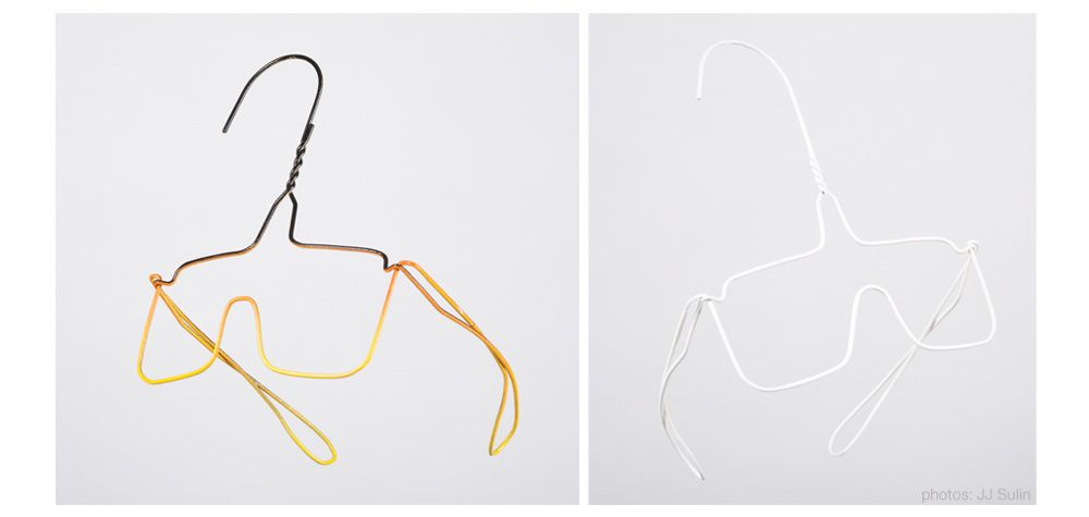Cool wire hanger art by Colgate Searle.