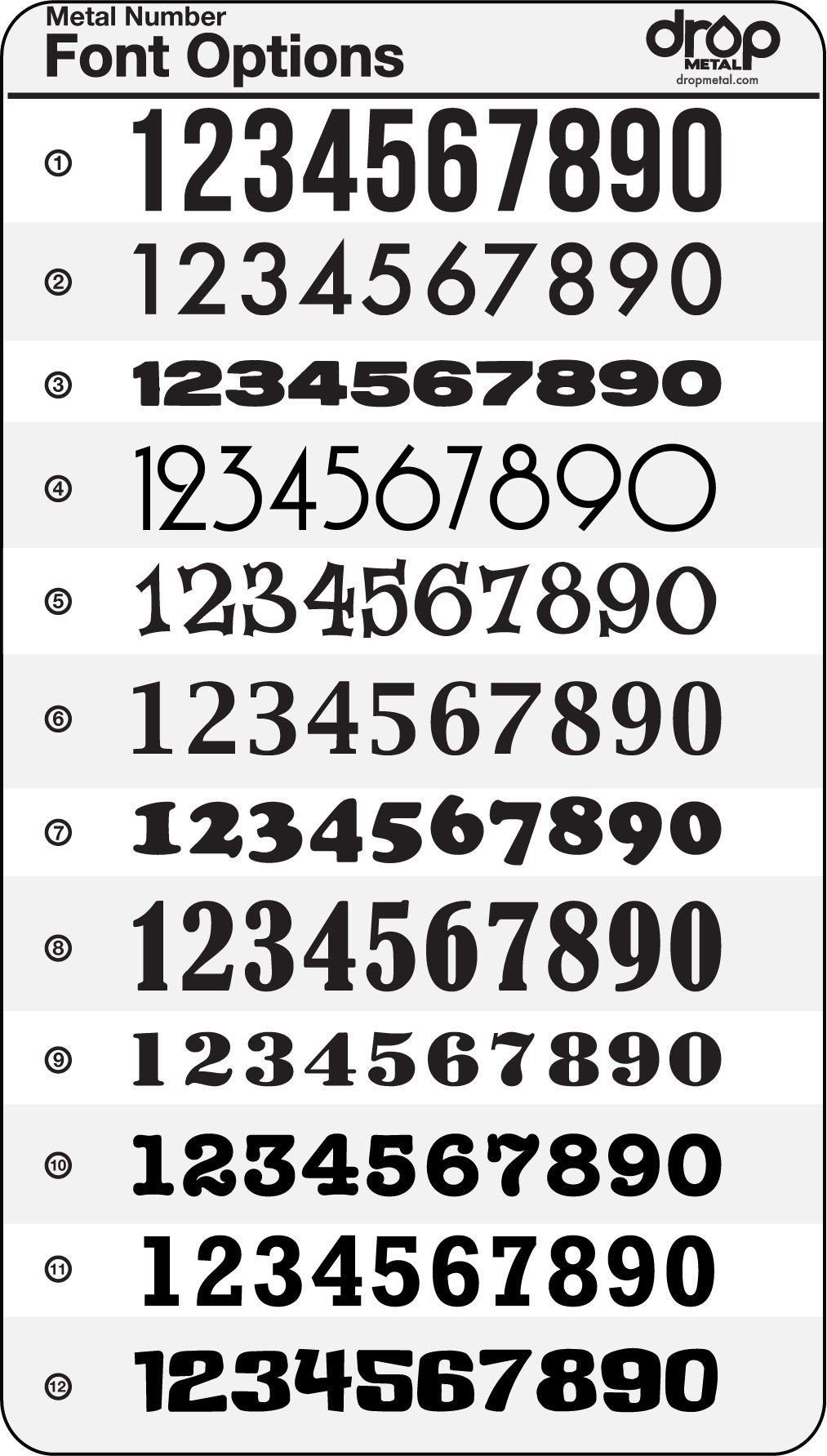 Number Fonts Ink Fonts Number Fonts Lettering