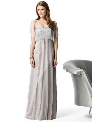 "A silver ""bridesmaids"" dress by Dessy I'm thinking about for my wedding dress"