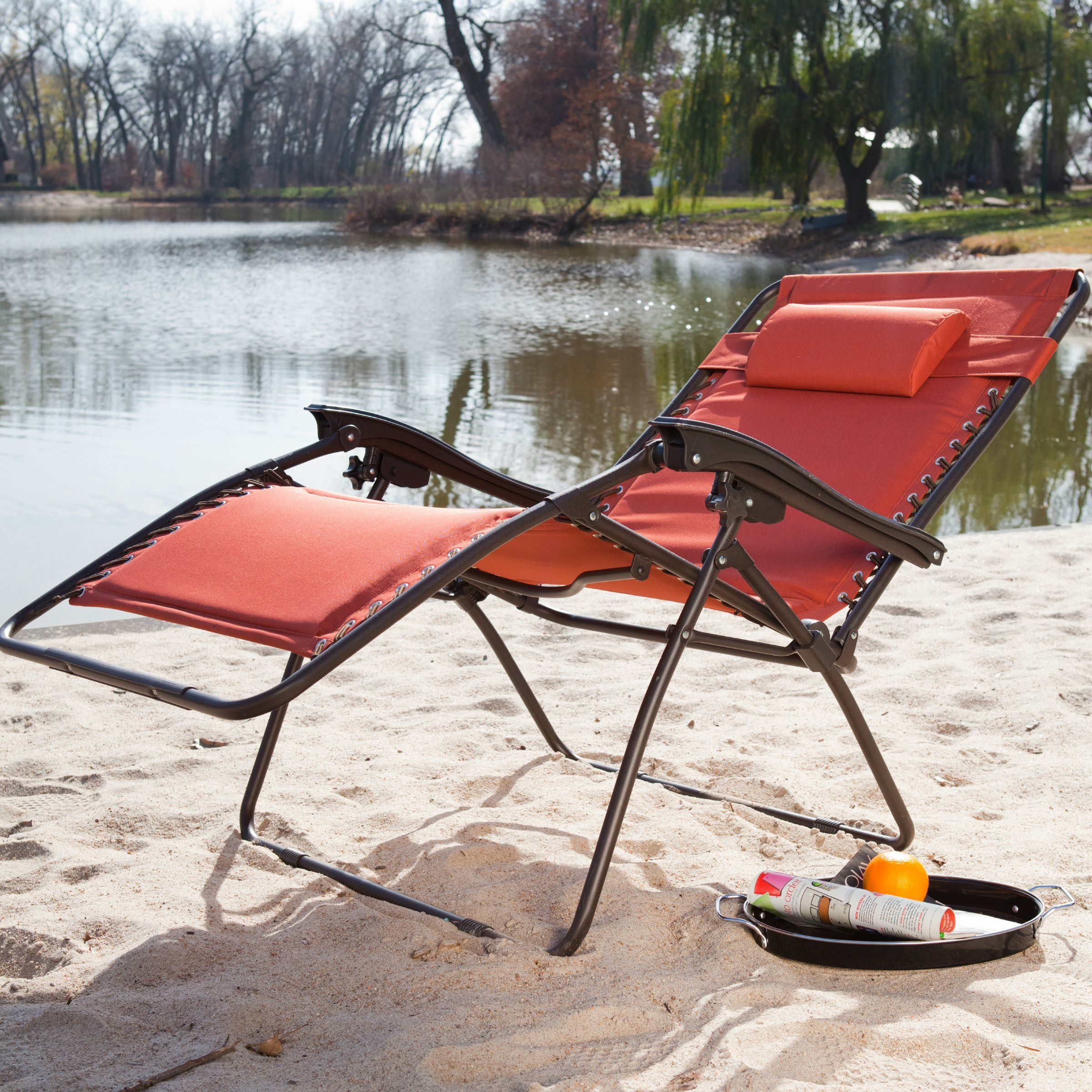 Coral Coast Extra Wide Padded Olefin Zero Gravity Lounge Chair