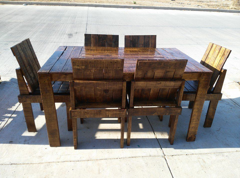 wooden pallet dining table and chairs set pinterest Coffee Table From Pallet Wood Small Dining Table Pallet