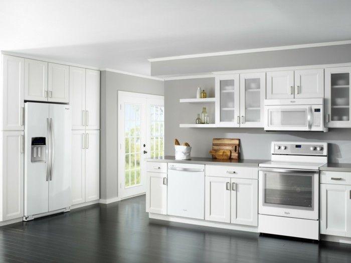 moderne küchengestaltung in weiß grau geräumig und funktional - möbel martin küchen