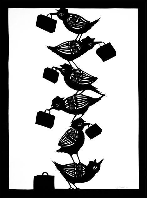 The Ladder - Cut Paper Art