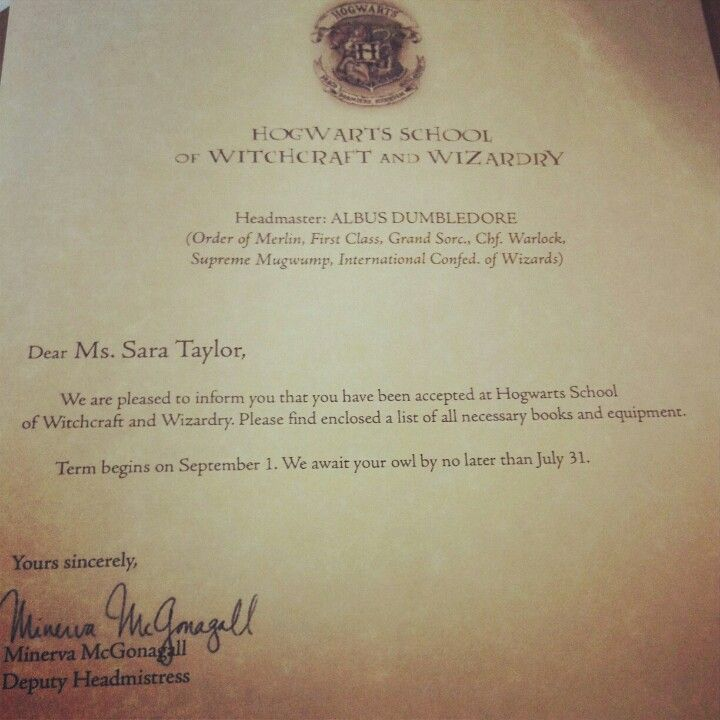Hogwarts Acceptance Letter D  Anything And Everything