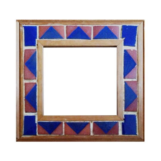 Mexican Tile And Wood Picture Frame Wood Pictures Spanish Villas