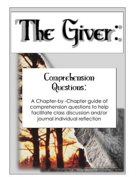 the giver chapter questions for class discussion and the giver chapter by chapter comprehension critical thinking discussion questions and journal 3 50