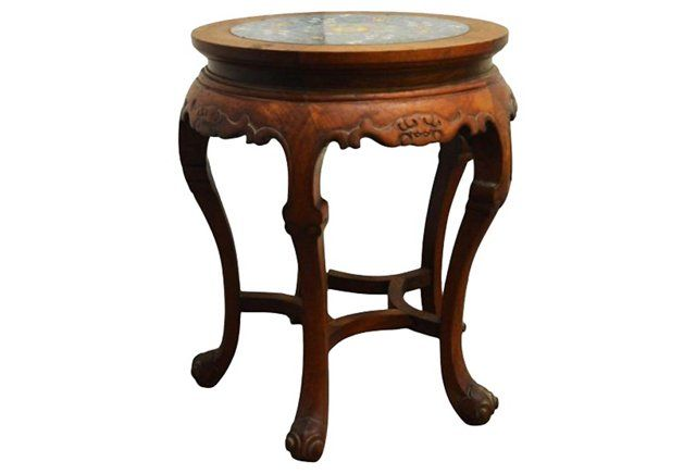 Antique Indonesian Marble Top Table Marble Table Top Antique Side Table Table